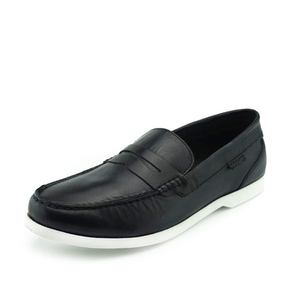 Smith Leather Classic Flat Loafers - Black