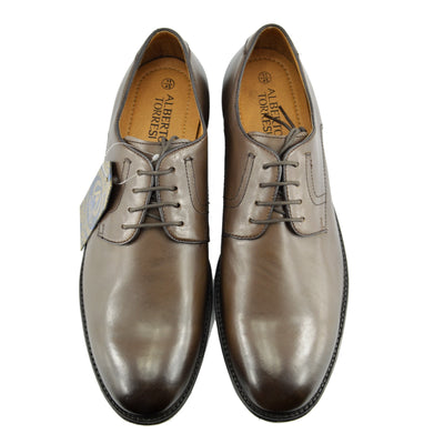 Yardley Smart Lace Up Leather Derby Shoes - Brown Classic