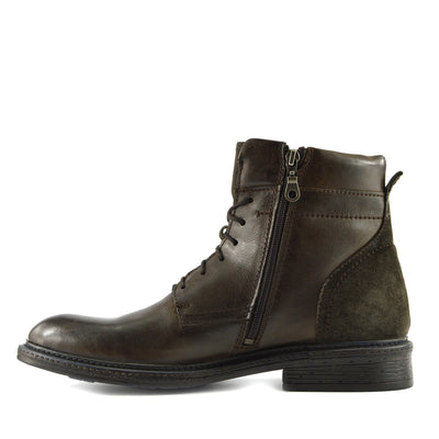 Lincoln Leather Combat Military Biker Boots - Brown