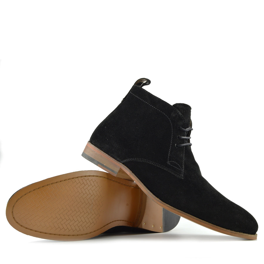 Harley Classic Suede Desert Ankle Boots - Black