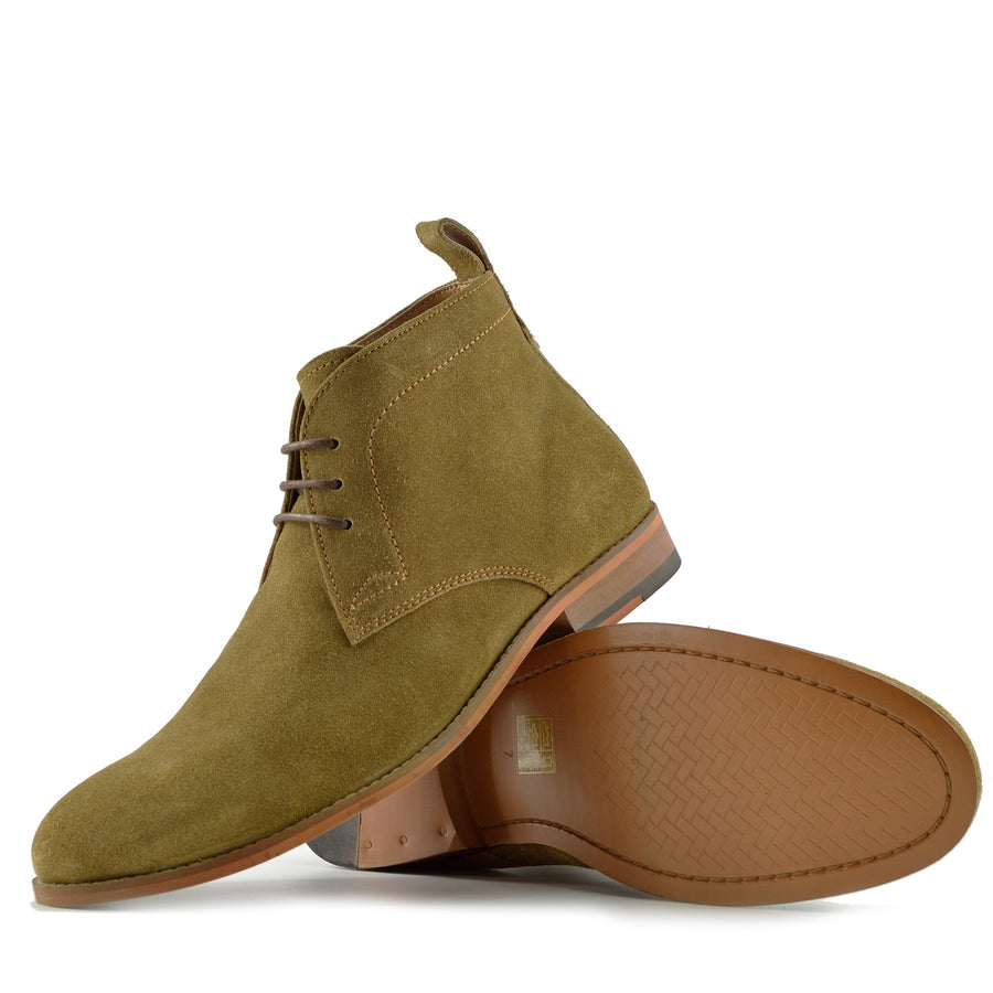 Harley Classic Suede Desert Ankle Boots - Tan