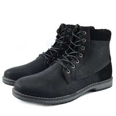 Blaine Combat Lace up Boots - Black