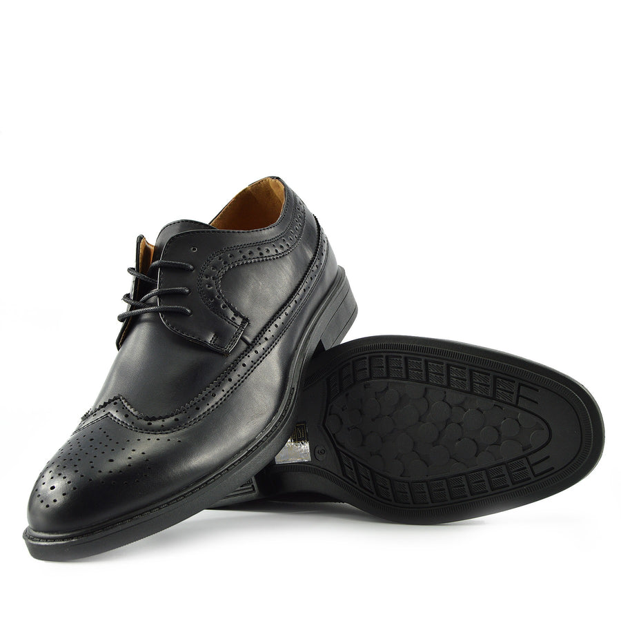 Eddie Office Smart Lace Up Brogues - Black