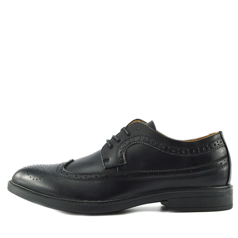 Brogue Detail Lace up Shoes - Black