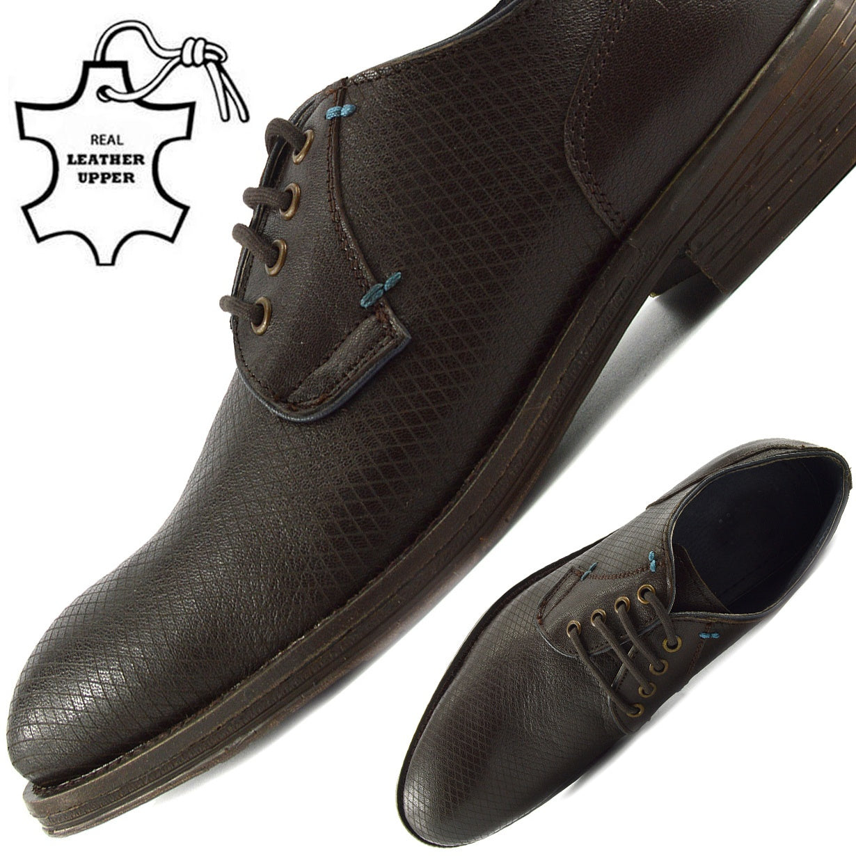 Mens Leather Casual Suit Formal Office Smart Work Lace Up Shoes