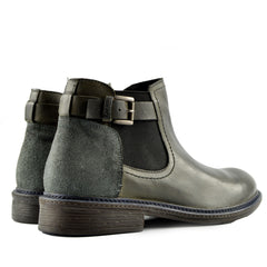 Lincoln Leather Combat Military Biker Boots - Grey