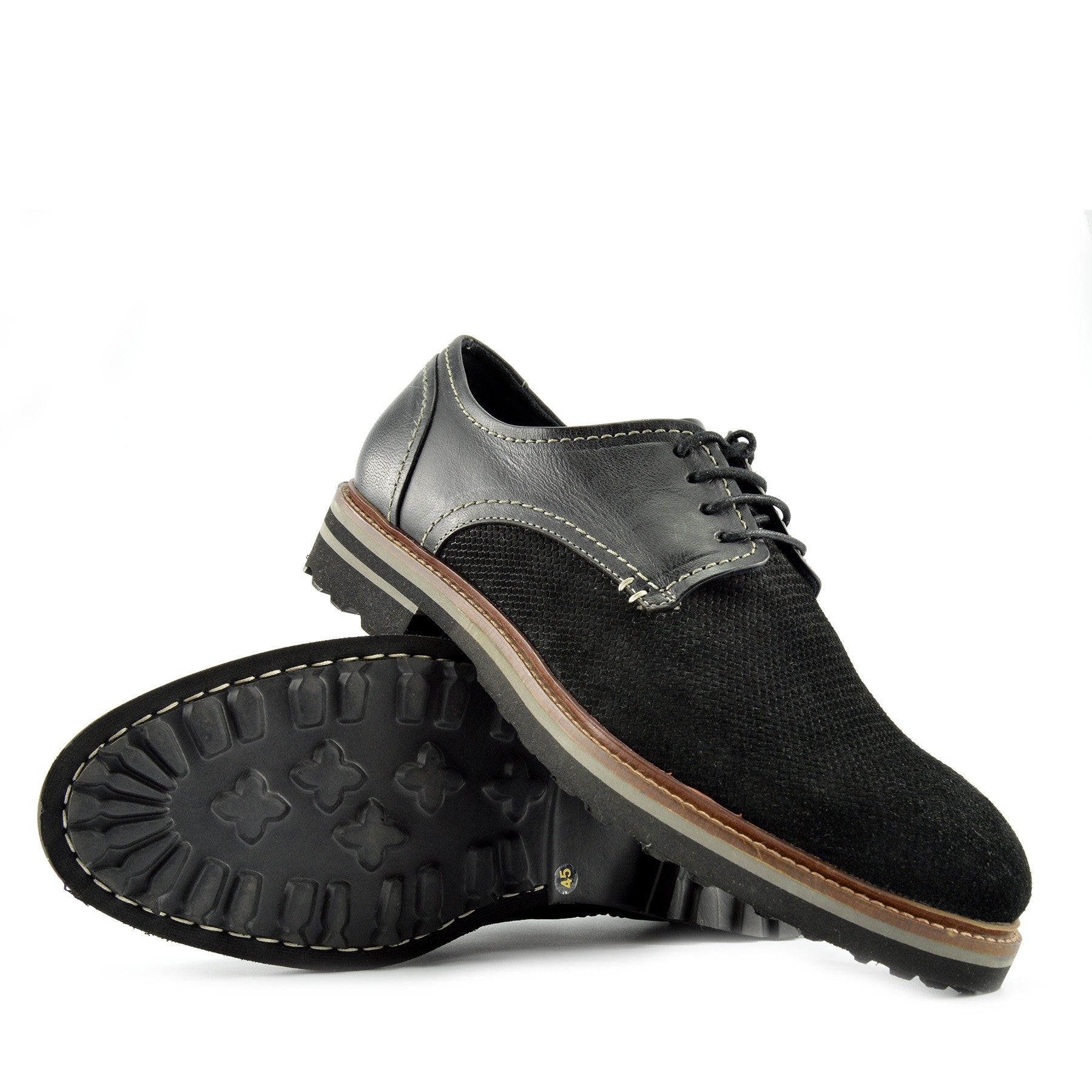 Mens Leather Brogue Shoes Lace Up Casual Office Smart Formal Shoes