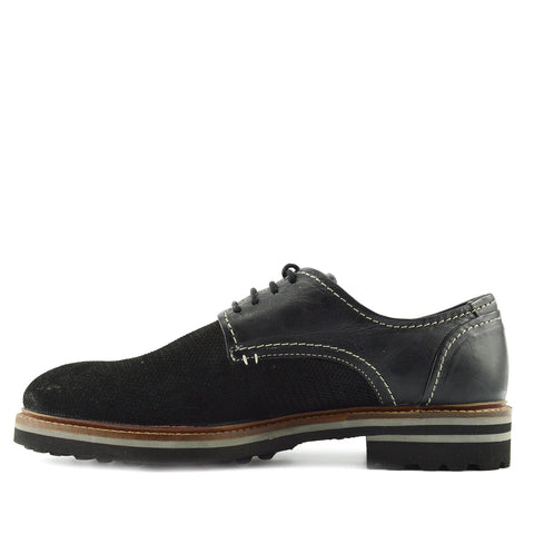Mens Leather Alternative Chunky Retro Brogues