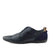 Vale leather Smart lace Up Trainer Shoes - Navy