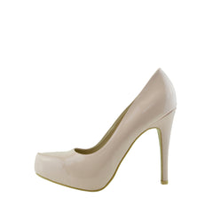 Patent Stiletto Court Shoes - Pink
