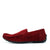 Moccasin Suede Driving Loafers - Red