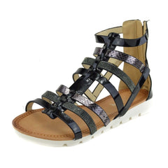 gladiator sandals womens black