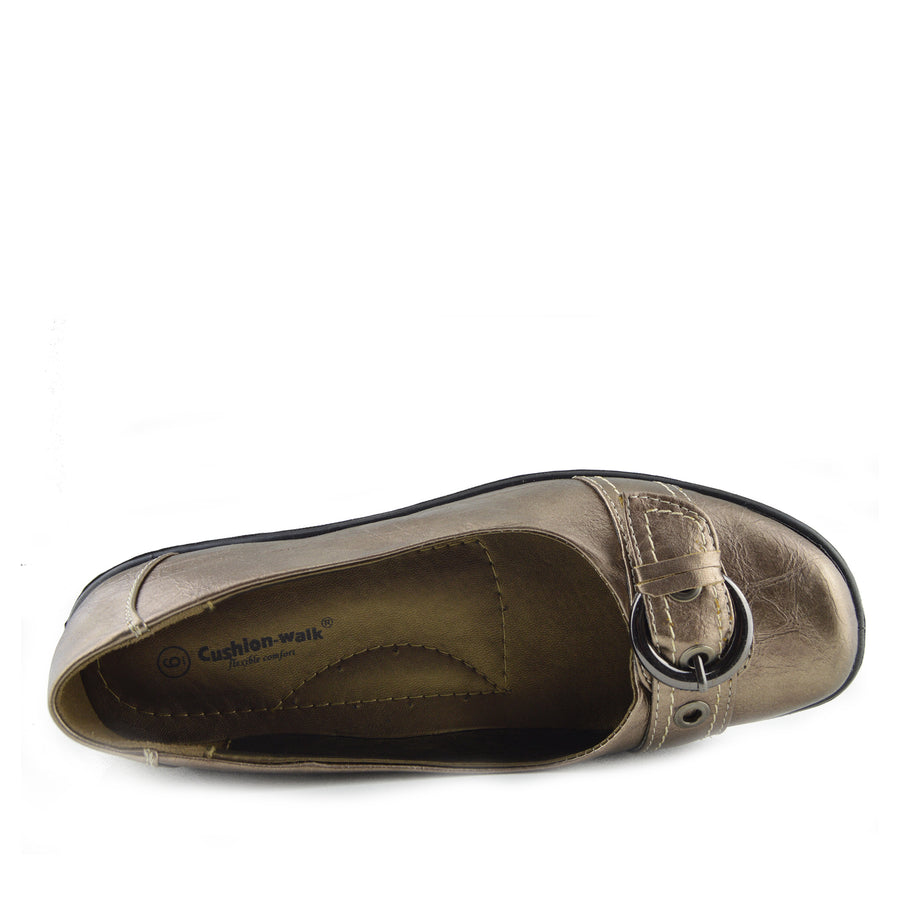 Apsley Flat Casual Comfortable Ballerina Shoes - Bronze