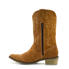 ladies brown cowboy boots
