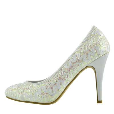 Carter All Over Glitter Court Shoes - Silver