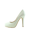 Womens High Heels Classic Party Evening Ladies Court Shoes - White