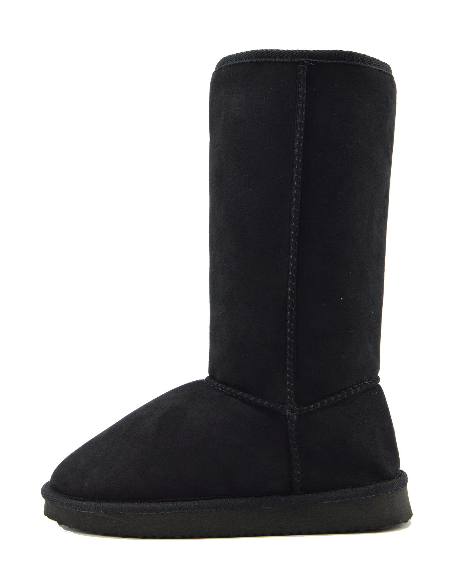 6661b8d62 Holly Mid Calf Faux sheepskin Lined Winter Boots -Black - Kickfootwear