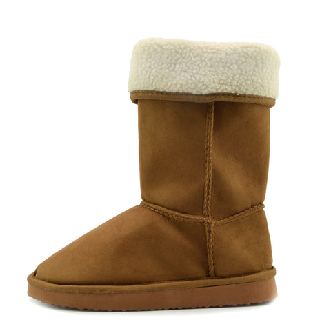 Holly Mid Calf Faux sheepskin Lined Winter Boots - Tan