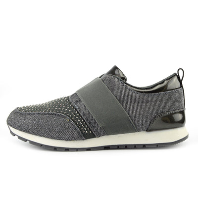 Parker Sparkle Glitter Trainers - Grey