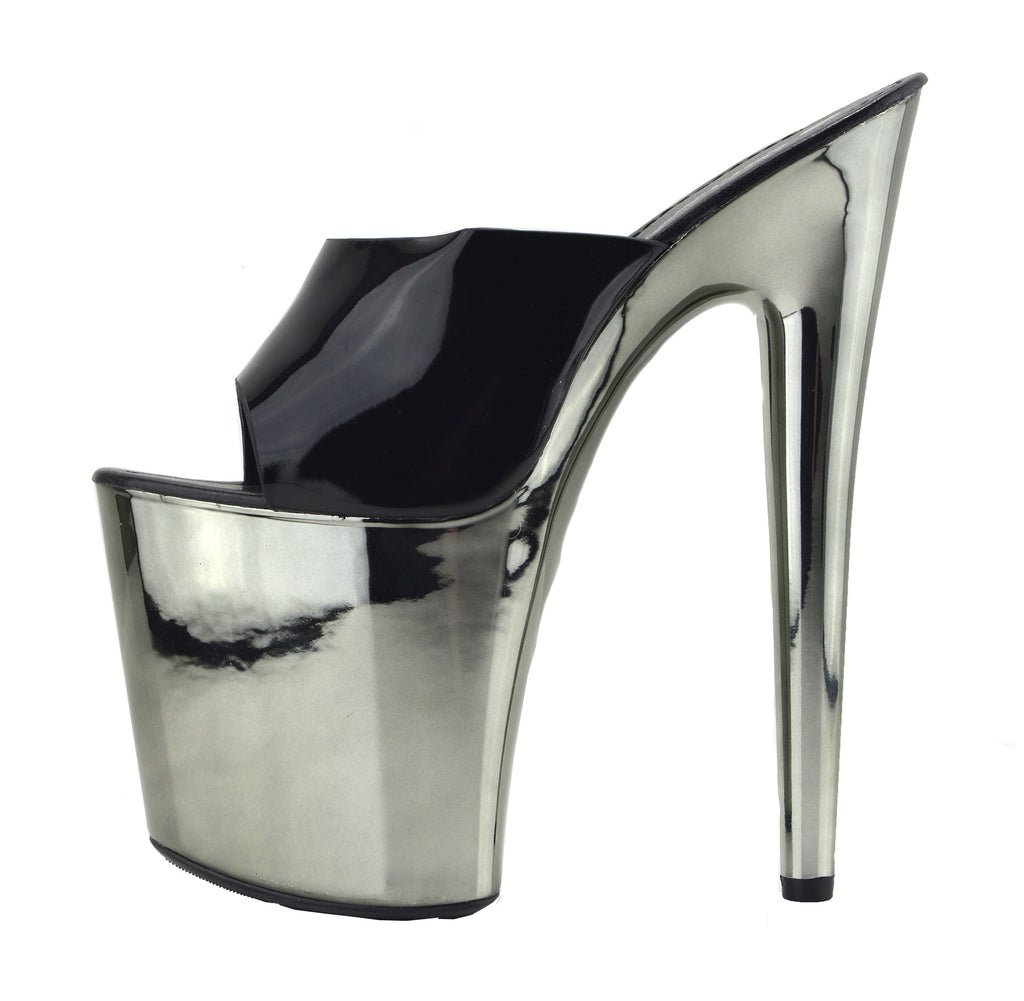 Womens Charmaine Clear High Heels Fashion Platform Dancing Shoes - Black