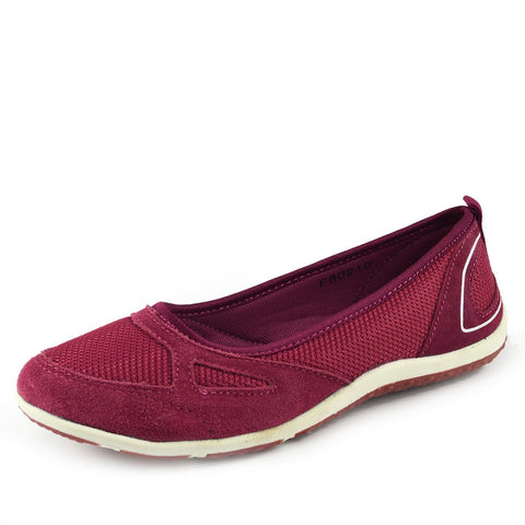 Arbury Flat Mary Jane Walking Ballerina Pumps - Magenta F80210