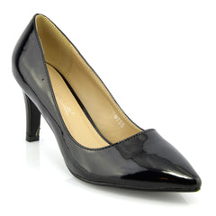 Mid Heel Smart Shoes - Black