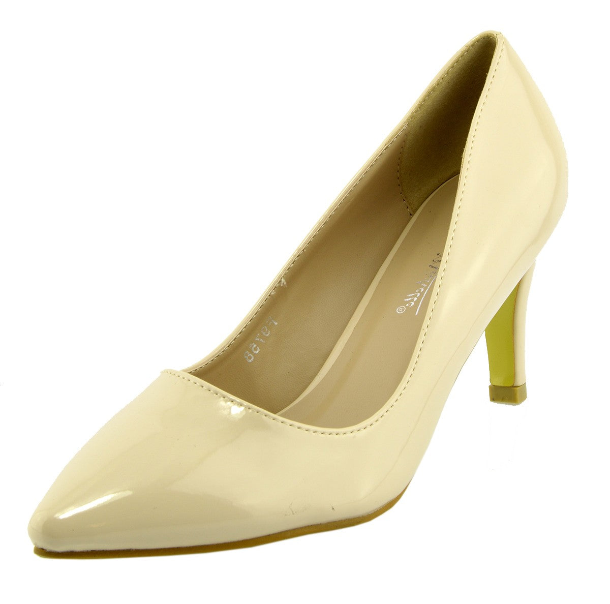 0f94e38766ddb Womens court shoes Ladies smart mid high heel work office formal shoes -  Nude