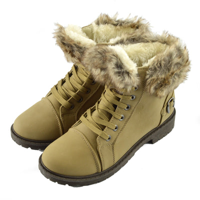 Willow Warm Grip Sole Winter Boots - Taupe