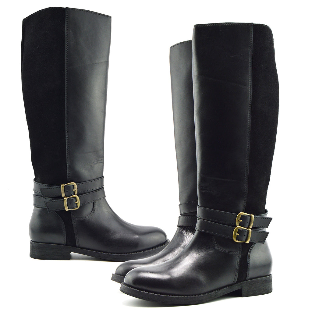 Tilly Leather Knee-High Riding Boots