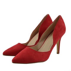 Womens Stilletto High Heel Pointed Toe Party Shoes - Red F9994