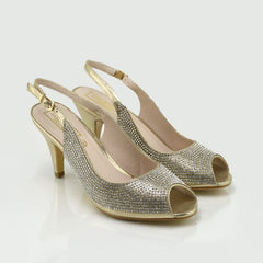 Womens Wedding High Heels Fashion Shoes - Gold