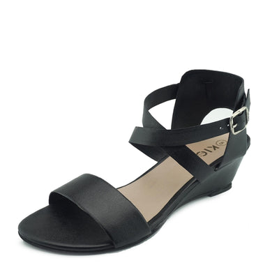wedge sandals women black