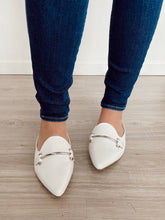 Load image into Gallery viewer, White Leather Mule