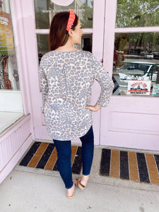 Leopard Lounge Blouse