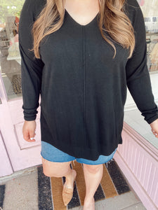Soft Leggings Sweater - Black