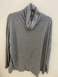 Comfy Mock Neck Top- Grey