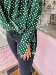 Perfect In Polka Dot Blouse