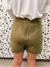 Load image into Gallery viewer, Suede Skort - Olive