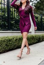 Load image into Gallery viewer, Light Sweater Dress - Burgundy