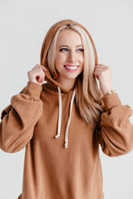 Load image into Gallery viewer, Ruffle Hoodie - Camel