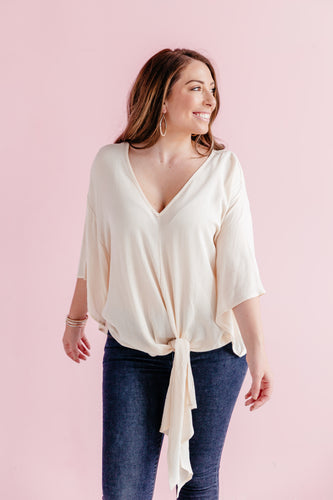 Chic Tie Top - Ivory