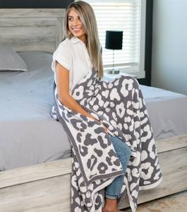 PRE-ORDER Softest Blanket Ever - Grey Leopard