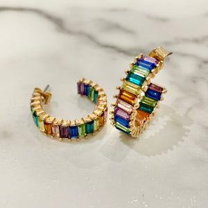 Baguette Studs - Multicolored