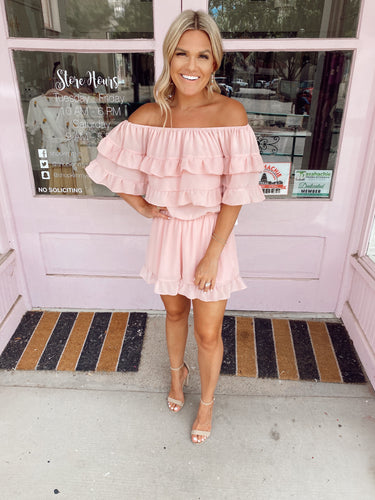 All About the Ruffles Romper - Rose