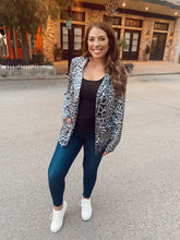 Load image into Gallery viewer, Front Pocket Leopard Blazer - Navy