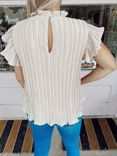 Load image into Gallery viewer, Prim In Pleats Blouse - Nude