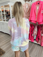 Load image into Gallery viewer, Tie Dye Sweatshirt - Yellow / Pink