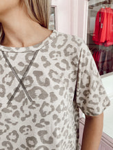 Load image into Gallery viewer, Beige Leopard Tee