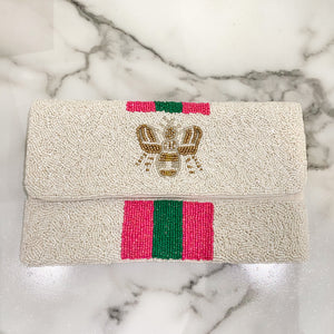 Pink Bee Clutch