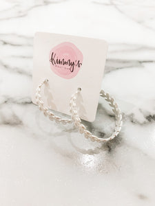 Gilded Silver Hoops